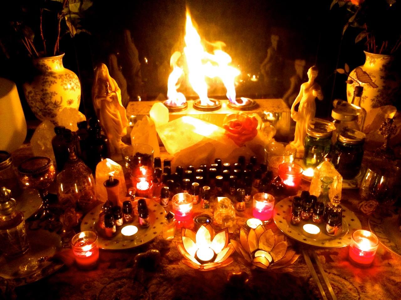 oils consecration fire